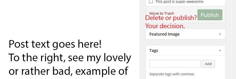 Blogging 101 screenshot